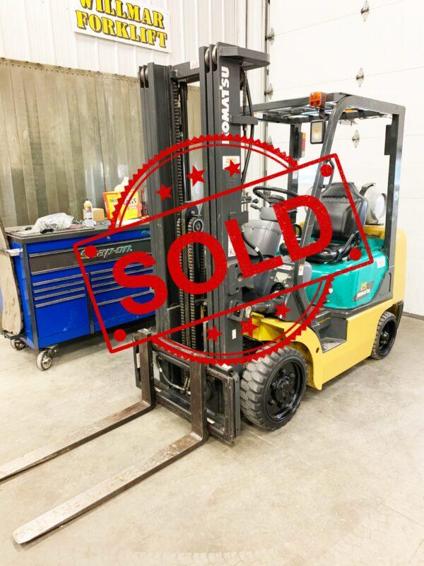 Sold Komatsu Forklift K1191
